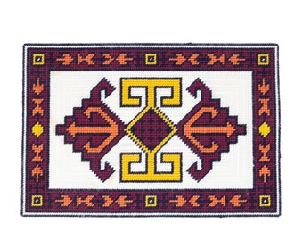 Set of 2 70s Handmade Southwestern Decor Boho Placemats