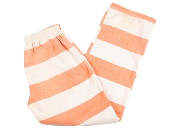 Vtg Orange White Striped County Jail Inmate Pants S