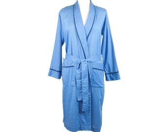 60s Fleetway Blue Long Sleeve Mens House Robe S