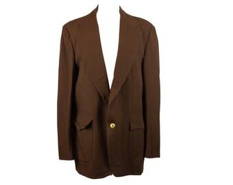 70s Nieman Marcus Brown Suit Jacket Blazer 44