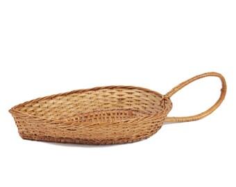 70s Teardrop Shapped Bread Basket Boho Decor