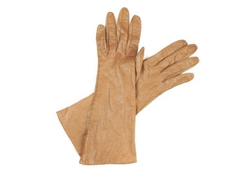 Children's Cognac Brown Soft Leather Gloves
