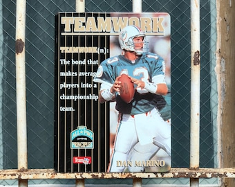 90s NFL Dan Marino Teamwork All Pro Principles Metal Sign