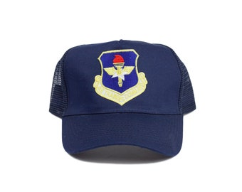 Military Issued Navy Red Gold Trucker Hat