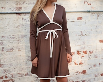 60s/70s Saks Fifth Ave Mocha Brown Dress