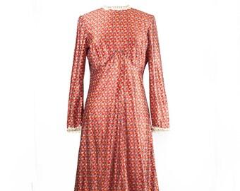 Handmade Floral Floor Length Prairie Dress
