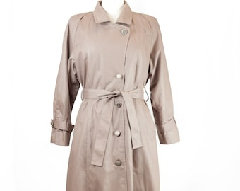80s London Fog Lined Trench Coat