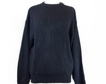 90s Black Stock Puritan Sweater M