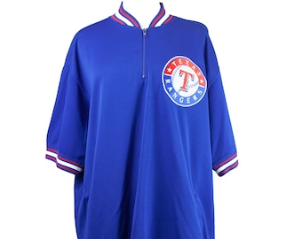 Texas Rangers Blue Short Sleeve Pullover XXL