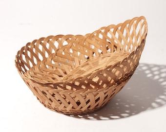 Set of 2 Woven Boho Baskets