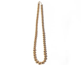 80s Gold Beaded Necklace