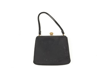 60s Coblentz Black Gold Clasp Handbag