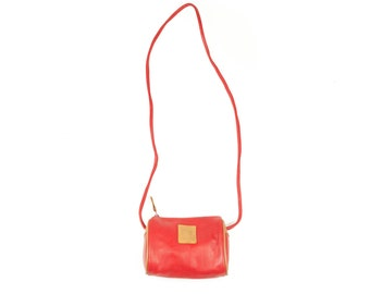 90s Esprit Red Leather Shoulder Bag