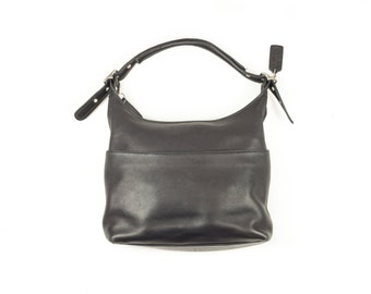 90s Coach Black Leather Hobo Bag Purse