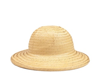 Vintage Natural Straw Safari Adventure Hat 7/8