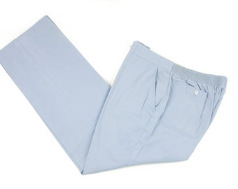 80s McGregor Mens Light Blue Casual Pants 34x30