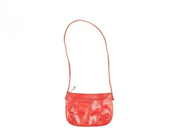 80s Koret Red Leather Shoulder Bag Crossbody Purse