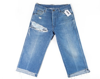 80s Calvin Klein Cutoff Distressed Denim Jeans
