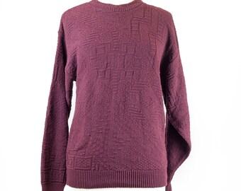 90s Puritan Maroon Pullover Sweater M