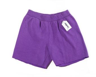 Faded Purple Cutoff Sweatpant Shorts