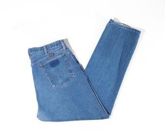 80s Faded Wrangler Straight Leg Mens Jeans