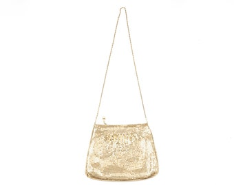 Gold Metal Mesh Purse Shoulder Bag