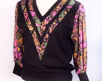 80s Three-Quarter Sleeve Sweater