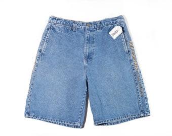 90s Bum Equipment Emblem Baggy Jean Shorts