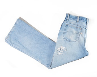 70s Faded Distressed Bootcut Men's Jeans