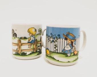 Rare 1969 Ebeling Reiss Set of 2 Ceramic Coffee Mugs