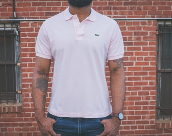Light Pink Lacoste Polo Shirt w Alligator Patch