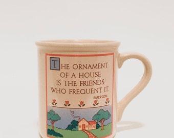 1985 Hallmark Mug Mates Light Pink Friends Mug