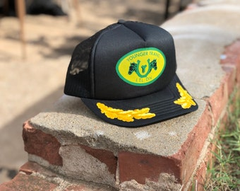 80s Black Gold & Green Snapback Trucker Hat