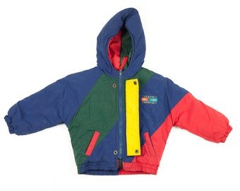 90s Izzy's Sports Color Block Kids Coat 3T