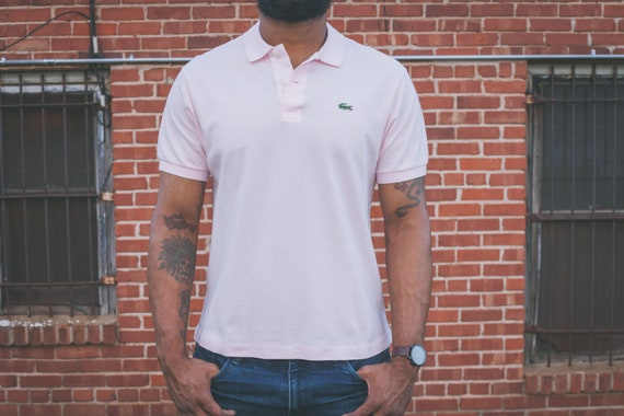 ae6060469b739d Light Pink Lacoste Polo Shirt w Alligator Patch