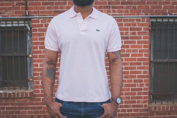 36c34b5d04100 Light Pink Lacoste Polo Shirt w Alligator Patch