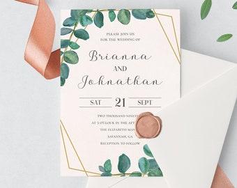 Single Wedding Invites