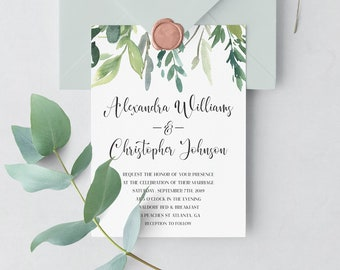 Single Wedding Invites