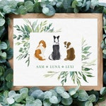 Custom Pet Portrait Custom, Custom Dog Portrait Custom, Pet Loss Gift, Christmas Gift for Dog Mom Gift, Dog Print, Personalized Pet Portrait