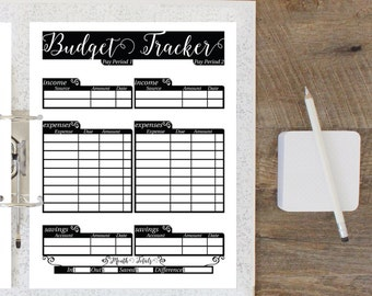 monthly budget planner budget printable money tracker