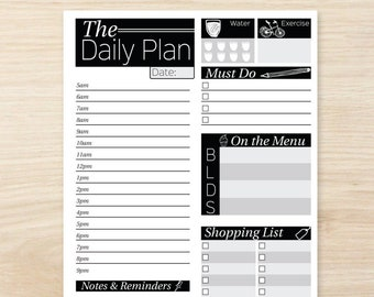 daily planner printable printable daily planner inserts daily planner pages daily planner binder daily to do list daily routine