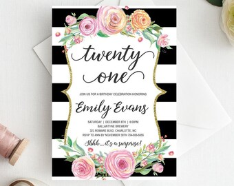 21st Birthday Invitations For Her Invitation Template Download Adult Invites Pink