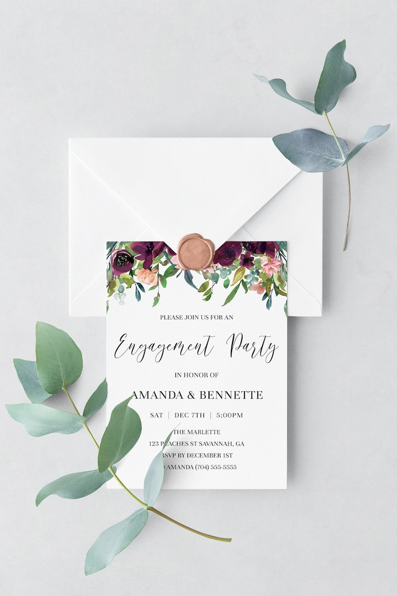 Engagement Party Invitations Template Engagement Invitations image 0