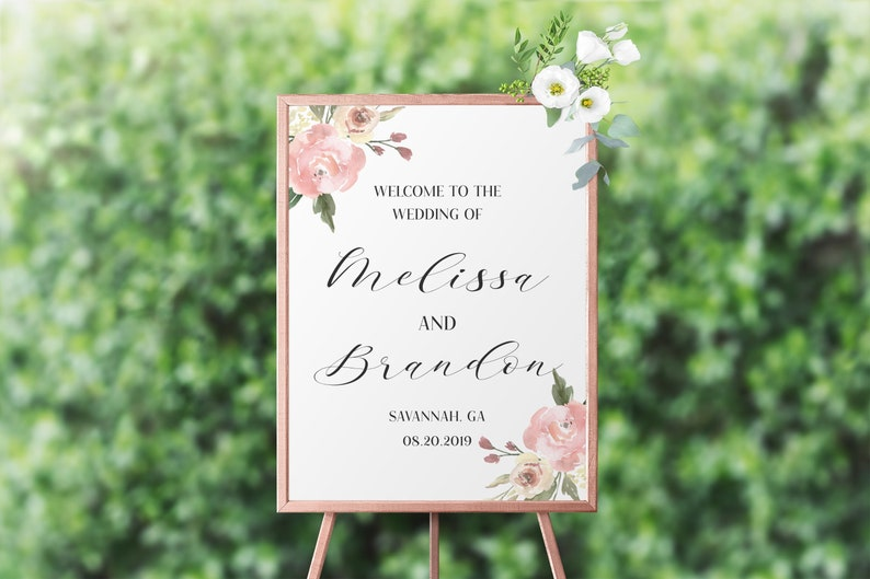 Wedding Welcome Sign Printable Welcome Wedding Sign Template image 0
