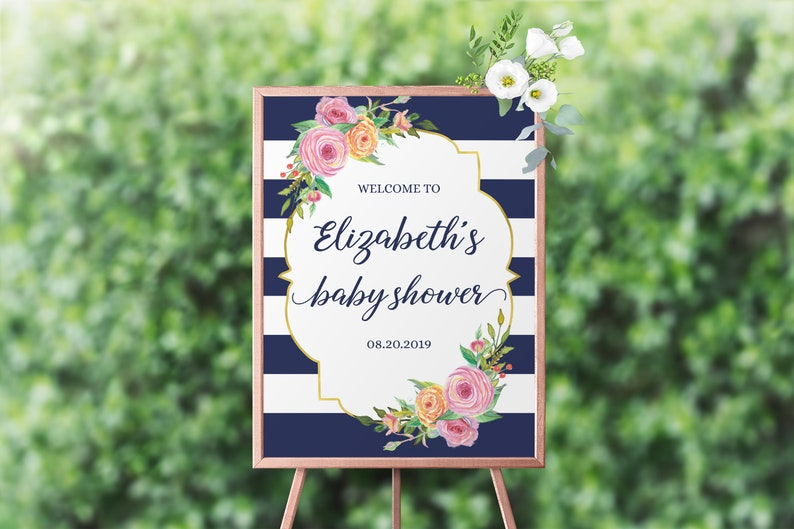 Baby Shower Sign Template Welcome Baby Shower Sign Welcome image 0