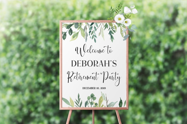 Retirement Party Welcome Sign Template Welcome Sign for image 0