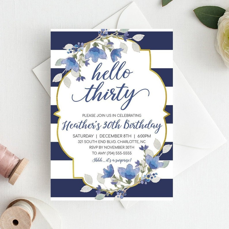 30th Birthday Invitation For Her Party
