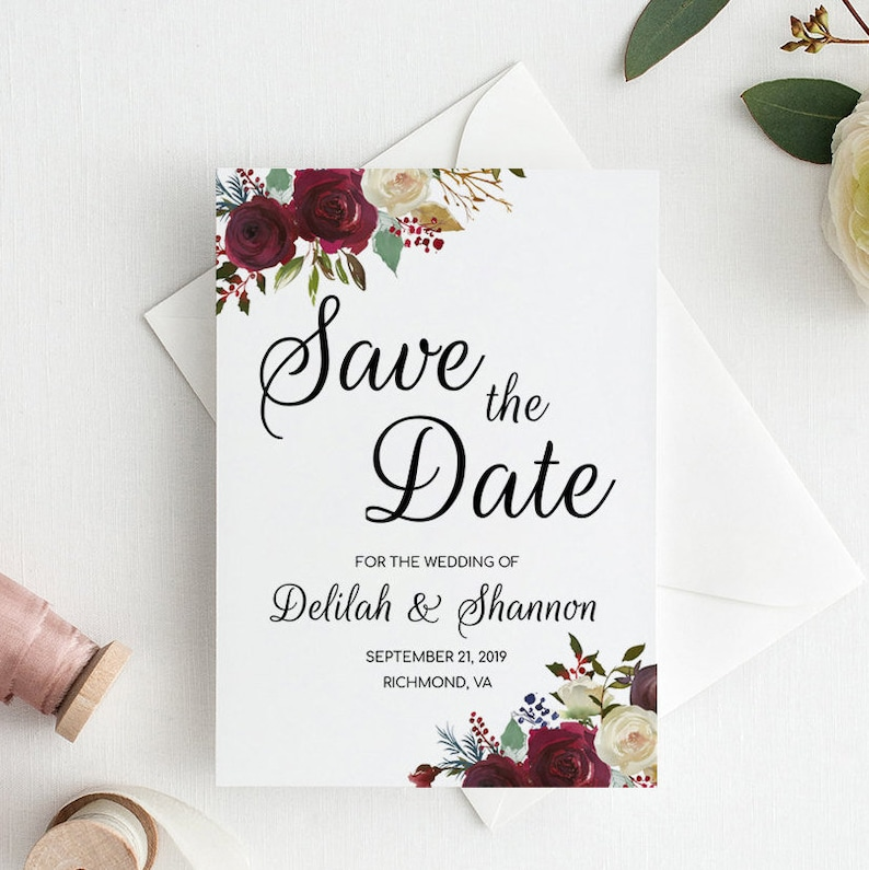 photo relating to Printable Save the Date Templates called Floral Preserve the Day Template Printable, Conserve the Day Printable Templates, Help you save the Day Template Down load, Floral Wedding day Help save the Day