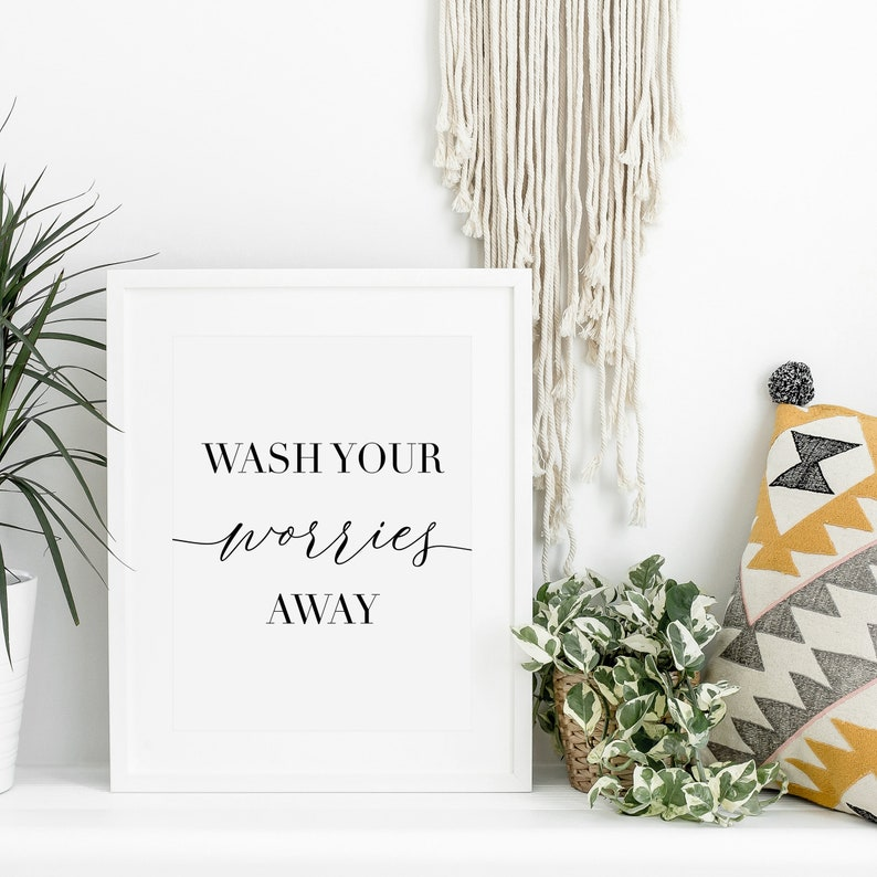 Bathroom Wall Art Printable Bathroom Sign Printable Bathroom image 0
