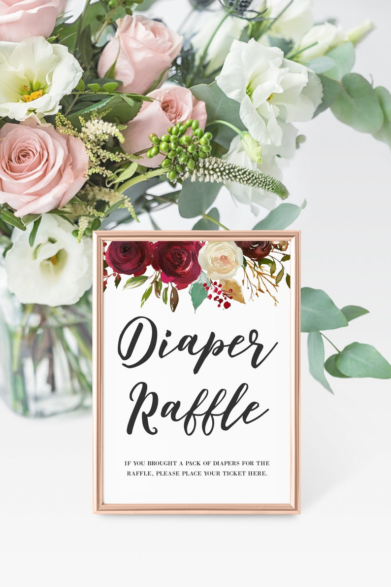 Diaper Raffle Sign Printable Baby Shower Printables Baby image 0